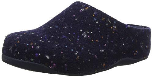 Fitflop Shuv Wolle Clogs, Blau (Midnight Navy 399), 36 EU