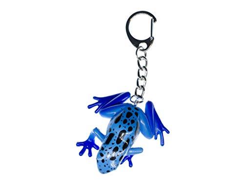 Miniblings Porte-clé Porte-clés Grenouille Poison Bleu - Bijoux à la Mode Main I I Pendentif Trousseau de clés Porte-Clef