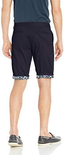 Azaro Uomo Men's Casual Slim Fit Khaki Shorts Cargo Wrinkle Free with Stretch