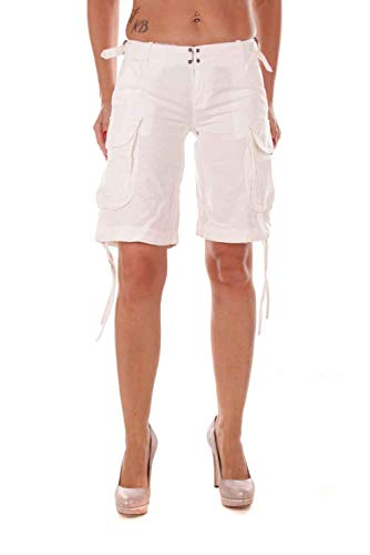 Diesel Damen Hupin Calzoncini Bermuda Cargo Shorts (Weiß, 25W)