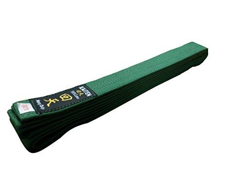 Kaiten Karategürtel Gürtel Budogürtel Baumwolle (grün) (300)