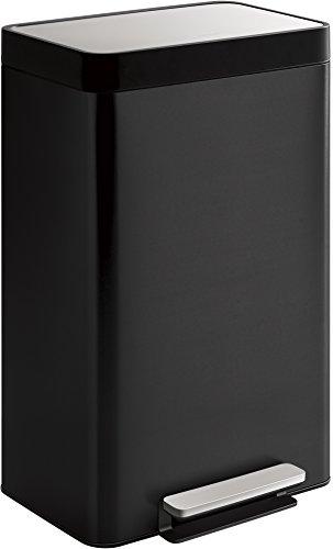 Kohler K-20940-BST 13-Gallon Step Trash Can, Black Stainless,Black Stainless Steel