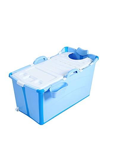 Esperanzaxu Bañera Plegable de plástico portátil de bañera de hidromasaje de Aislamiento y sin la Tapa del Cubo Grueso de la Ducha for el Cabrito/Adulto Uso, 91x50x53cm