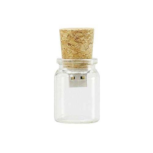 Unidad Flash USB de 16GB Botella de Cristal de Vidrio Modelo Pen...