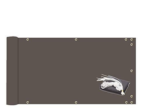 MODKOY Sichtschutzplane 90x700cm Seitenmarkise in div Größen & Farben Reißfest für den Gartenzaun oder Balkon -Anthrazit