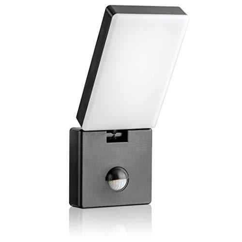 SEBSON® LED Buitenlamp met Bewegingssensor, Wandlamp Antraciet IP65, Verlichting Zwenkbaar met Sensor 9m / 140°, Buitenverlichting 15W 900lm Koud Wit 5800K