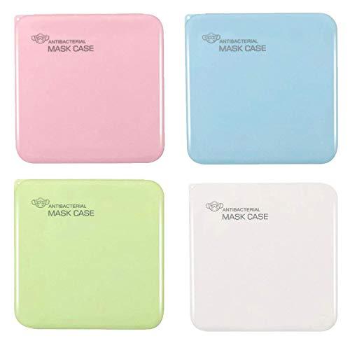 JSxhisxnuid [4 Stück] Tragbare Aufbewahrungsbox Mundschutz Aufbewahrungstasche - Staubdicht Kunststoff Wiederverwendbar Maskenbox - Mund und Nasenschutz Zubehör