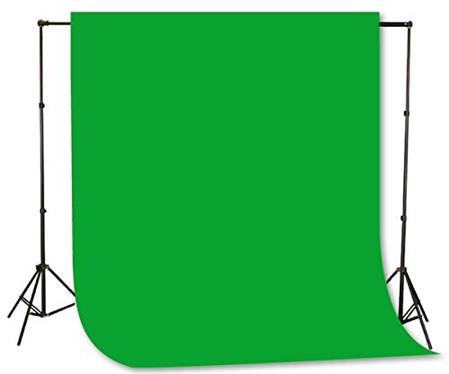 Fancierstudio Green Screen Background Stand Backdrop Support System Kit with 6ft x 9ft Chromakey Green Muslin Backdrop by Fancierstudio H804...