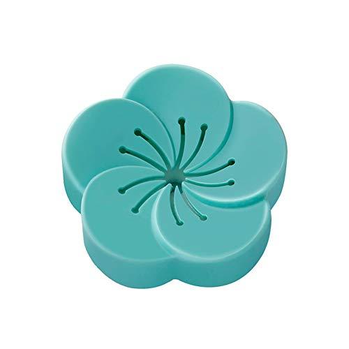 Calayu luchtverfrisser aromatherapie box, zelfklevende bloemenvormige aromatherapie Box 4 stuks voor auto badkamer keuken