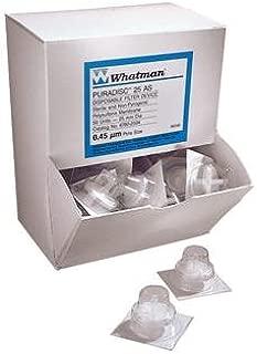 GE Healthcare 6784-2502 Whatman Puradisc Syringe Filter 25 mm Diameter 0.2 /µm Pore Size Nonsterile Polytetrafluoroethylene Pack of 50