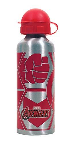 GIM Una Botella de Agua de Aluminio, cantimplora térmica a Prueba de Fugas sin BPA para Levar a la Escuela y Deportes el Termo 520ml para niños y niñas (Gris)