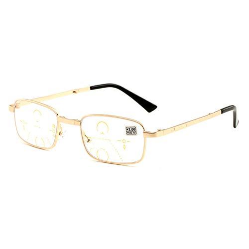 VOCD Neue Komfortable Progressive Multi-Focus-Klapp-Lesebrille Metall-Vollformat-Fern- Und Nahbereichsbrillen Brillen Für Männer Und Frauen