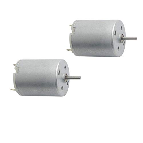 1.5~5V 1500~6000RPM DC Speed Micro Electrical Motor 370 Mini Motor Round Shaft for RC Boat Airplane Toys Model DIY Toys - (2 PCS)