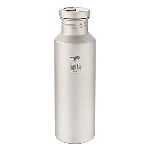 Keith Starke und leichte Titan Wasserflasche mit Titan Deckel (700ml/23.6oz)