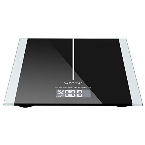 180Kg Slim Waist Pattern Personal Scale Black Body Fat Monitors
