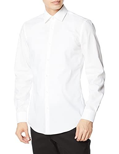 HUGO Herren Freizeithemd Kenno, Weiß (Open White 199), 39