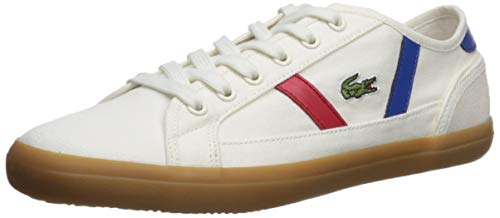 Lacoste Women's Sideline Sneaker, Off White/Gum, 8.5 Medium US