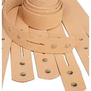 4569-00 13 mm 1.3 m x 50 Tandy Leather Heavyweight Natural Cowhide Leather Strip 1//2
