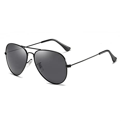 ZKP Gafas de sol polarizadas para mujer, diseño retro, retro, redondas, gafas de sol con marco redondo de protección 400, una variedad de colores a elegir (color: un marco negro)