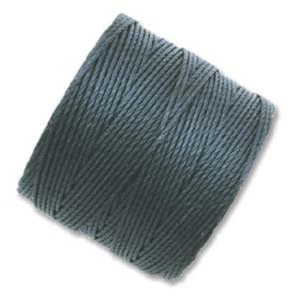 Superlon #18 Twisted Nylon Bead Cord 77 Yard Spool Bobbin DARK TEAL
