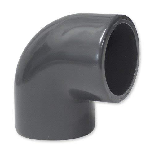 PVC Winkel 90° 50 mm mit 2 Klebemuffe