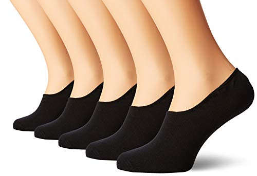 JACK & JONES Herren Jacbasic Multi Short Sock 5 Pack Noos Füßlinge, Schwarz (Black Detail Black & Black), Einheitsgröße (5er Pack)