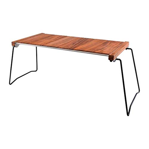 UNU_YAN Picnic Tables for Outdoors,Wooden Folding Table, Uniquely Designed Desktop Wood Board Detachable Storage or Replacement of Other Items, Suitable Outdoor Tea Barbecue, Etc.