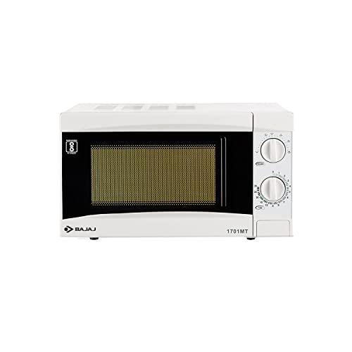 Bajaj 1701 MT 17L Solo Microwave Oven, White