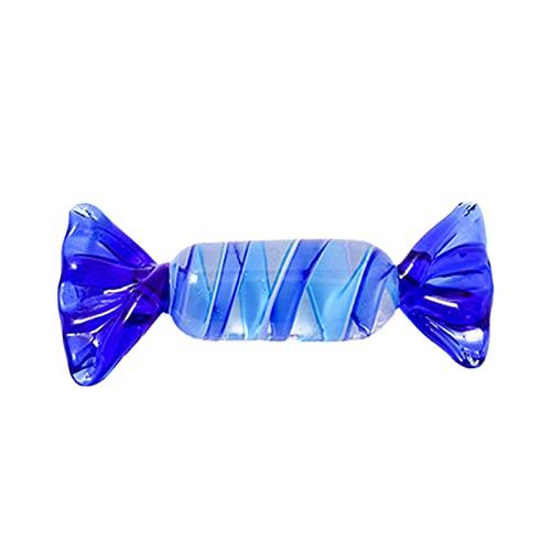osyare 1:12 miniatura de cristal caramelo simulación colorido caramelo ornamento decoración de escritorio favores de fiesta F