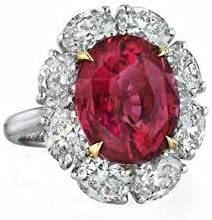 3ct Ranking TOP17 Heart Cut Bombing free shipping Red Garnet Accents Engagement Ring 14k R Solitaire