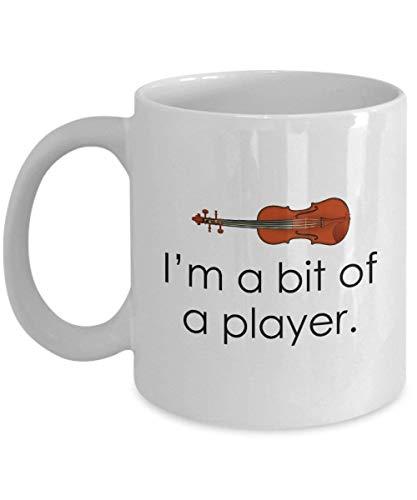 Divertida taza de violín regalo de violín violinista regalo idea de regalo violinista jugador presente Im A Bit of A Player