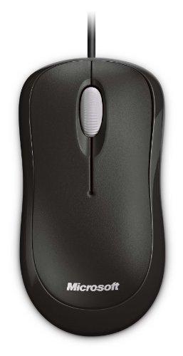 Microsoft Basic Optical Mouse (Maus, schwarz, kabelgebunden, für Rechts- und Linkshänder geeignet)