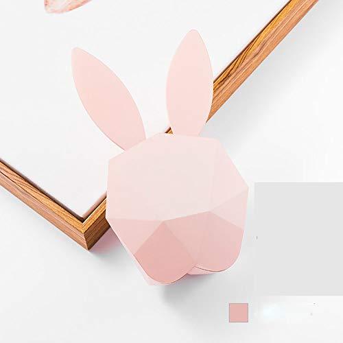LWX Conejito de Dibujos Animados Música Reloj Despertador USB Recargable Control de Voz Luz Nocturna de la Noche Estudiante luz de Despertador (Color : Pink)