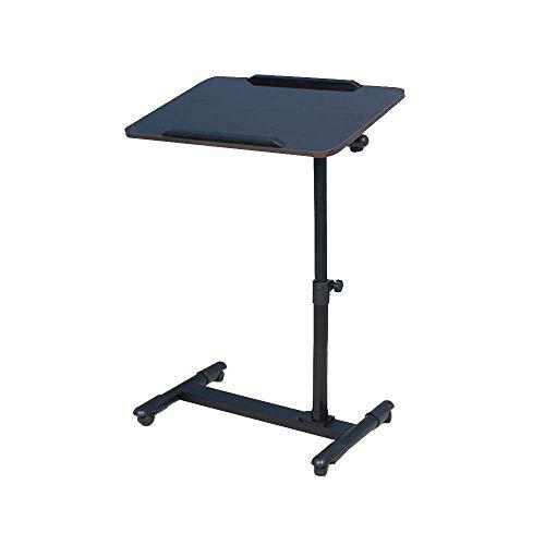 Mobiler Laptop-Schreibtisch Mobiler Laptop-Schreibtisch - Mobiler Laptop-Schreibtisch, Nacht-Laptop-Schreibtisch, Workstation-Ständer, Laptop mit verstellbarem Tisch und abschließbarer Universalrolle