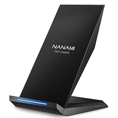Fast Wireless Charger,NANAMI Qi Certified Wireless Charging Stand Compatible iPhone SE/11/11 Pro/11...