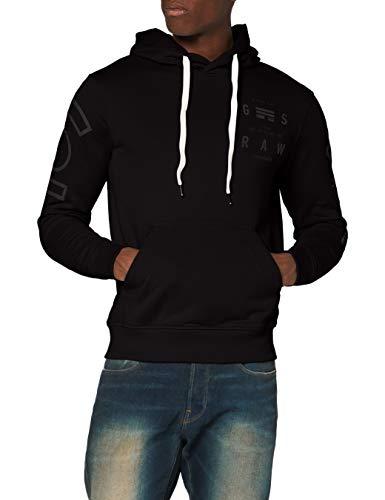 G-STAR RAW Herren Hooded Sweatshirt Core Graphic, Dk Black A613-6484, Large