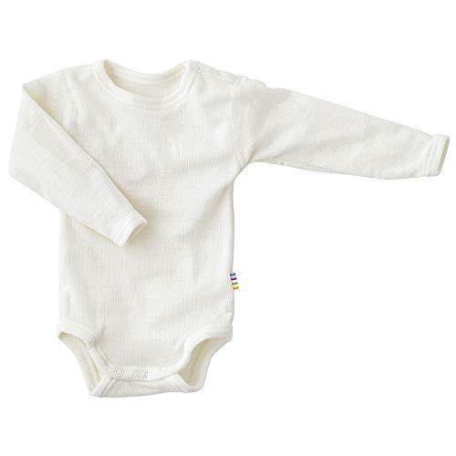 Joha Body à manches longues en laine mérinos et soie pour bébé - Blanc - 92