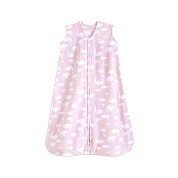 HALO Sleepsack 100% Cotton Wearable Blanket, Swans Micro-Fleece, Medium