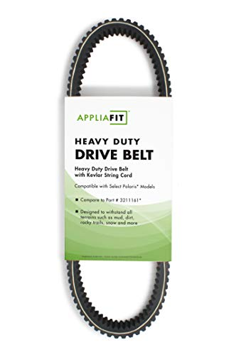 AppliaFit Heavy Duty ATV Drive Belt Compatible with Polaris 3211161, 3211106 and 3211130 for Polaris RZR 800, Ranger 700 XP and Sportsman 800 Vehicles. (1-Pack)