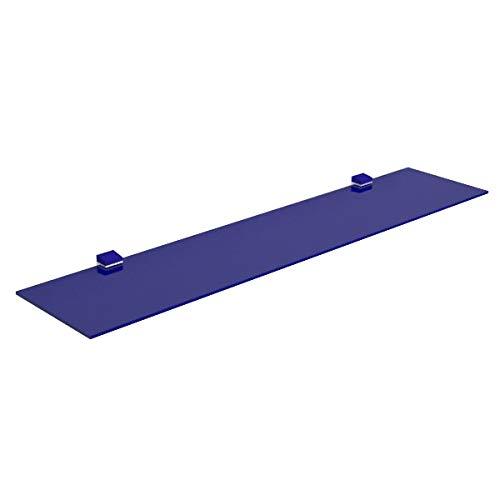VE.CA-ITALY MENSOLA IN VETRO TEMPERATO 60 X 17 X 0,6 cm 100% Made in Italy (blu)