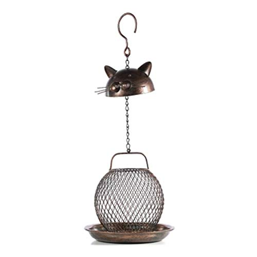 SHJMANPA Bird Feeder for Outdoors Hanging Decoration Bird Table Free Standing House Courtyard Cabin Easy Cleaning and Refills Bird Feeder, Brass, Free size