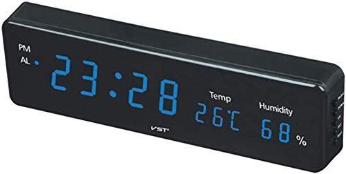 LED Digitale Wandklok Temperatuur Vochtigheid 12/24 uur Omzetting met 3 Sets Van Alarm Klokken Stijlvolle Wandtafel Keuken Op De Muur Muurschildering Thuis