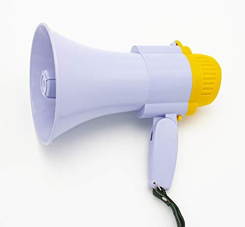 Megáfono, Altavoz Profesional portátil con Ajuste de Volumen Sirena, grabadora y Mango Plegable (20W 25 * 15 CM)