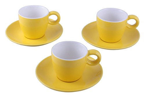 Espressotasse mit Untertasse 0,1 Liter gelb Set