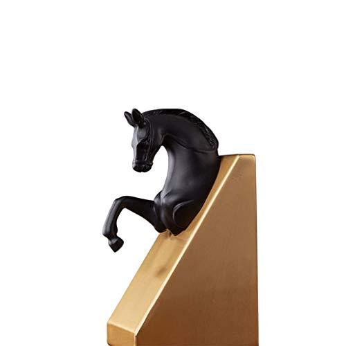 Mankvis Sujetalibros artesanales, diseño de cabeza de caballo de bronce, para oficina, salón, decoración de escritorio, H21 cm