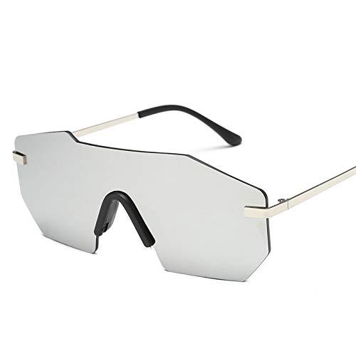nobran in ultra-feuergelben Gläsern einteilige framellose Sonnenbrillen Männer und Frauen's groß-umrahmte Sonnenbrille Muschelgläser