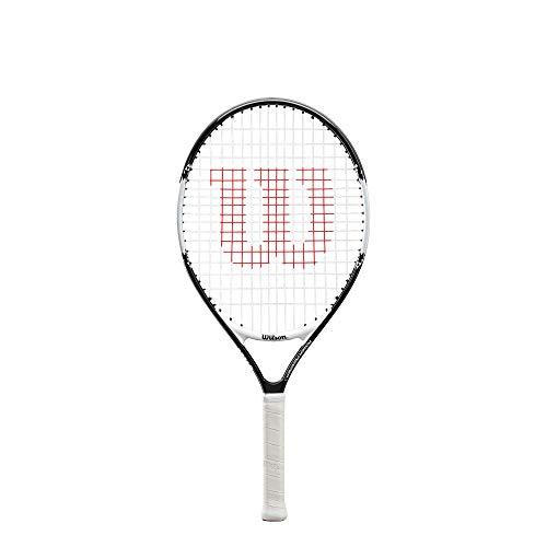 Wilson Tennisschläger Roger Federer 23, für Kinder im Alter von 7  - 8 Jahre, AirLite-Legierung, schwarz/weiß, WR028410U