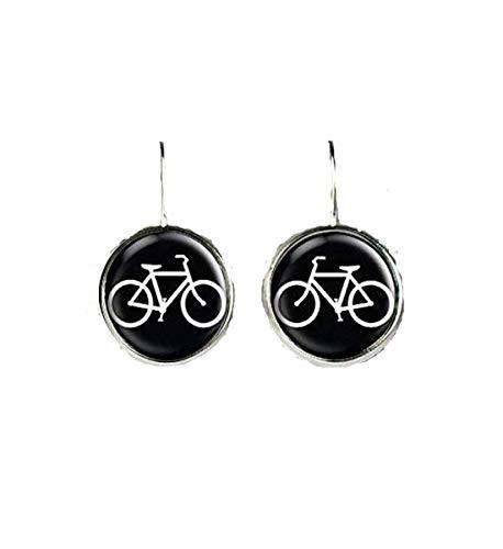 Pendientes de bicicleta, joyería de bicicleta, accesorios de bicicleta, joyería de cristal...