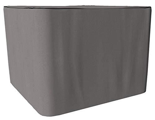 SORARA Housse de Protection Hydrofuge pour Table Rectangulaire | Gris | 180 x 90 x 70 cm