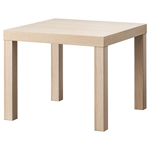 Tavolino LACK 55x55x45 cm bianco effetto rovere tinto